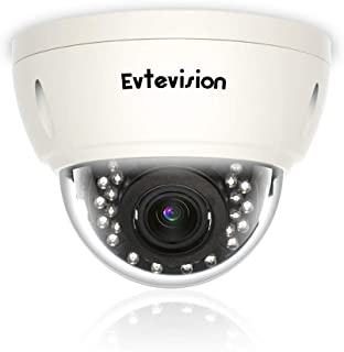 Evtevision 4K/8MP Super HD AHD/TVI/CVI/CVBS Cámara de Seguridad Domo IR IP66 A Prueba de vandalismo 3.6-10mm Lente varifocal 20M Cámara de vigilancia Visión Nocturna Interior/Exterior