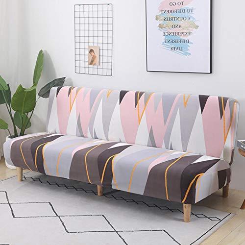 Funda de sofá Cama Estampada sin reposabrazos Fundas de sofá Cama Lavables movibles elásticas Estilo Moderno Home-k815, Z150-185 cm