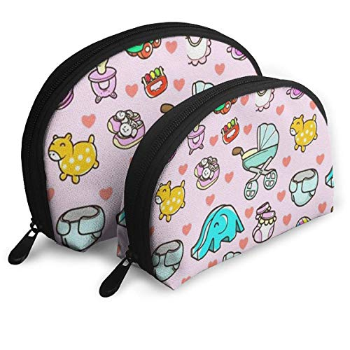 Make-Up Bag Cute Toys Pattern Travel Makeup Pencil Pen Case Multifunction Storage Portable - 2 Piece Set