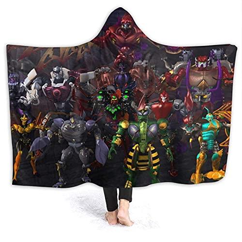 CSDGHRHX Manta de vellón súper Suave y Liviana Beast Wars Transformers Se Utiliza para sofá Cama y Manta de Reserva de Viaje 125cmX100cm.