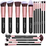 BESTOPE Makeup Brushes 16 PCs Makeup Brush Set Premium Synthetic Foundation Brush Blending Face...