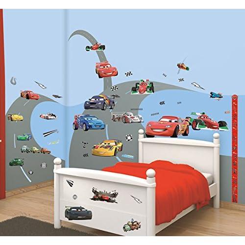 RoomMates Sticker g/éant repositionnable Cars avec Flash McQueen de Disney 92,7CM X 43,8CM