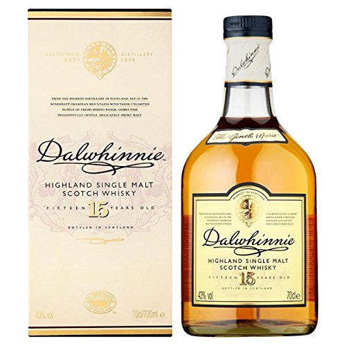 Dalwhinnie 15 Jahre alter Highland Single Malt Scotch Whisky 70 cl (Packung mit 70 cl)