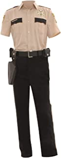 GOTEDDY Men's Rick Grimes Halloween Cosplay Costume Outfit Uniform Suit Set