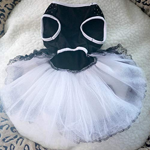 ETbotu Leuke jurk prinses diamant voor honden, huisdieren, kleding voor zomer en lente, METRO, Blanco Y Gris