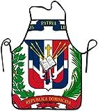 N\A Delantal de Bandera de República Dominicana Delantal de Cocina Unisex a Prueba de Aceite Accesorios de Cocina para Hornear Hotel Craftsman Bandera de República Dominicana