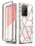 i-Blason Handyhülle für Samsung Galaxy S20 Ultra Hülle Glitzer Hülle Bumper Schutzhülle Glänzend Cover [Cosmo] OHNE Bildschirmschutz 6.9 Zoll 2020 Ausgabe (Marmor) Galaxy-S20Ultra-Cosmo
