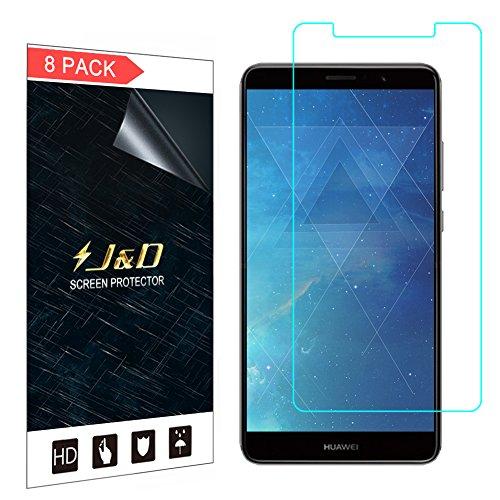 J&D Compatibile per Huawei Mate 10 PRO Pellicola Protettiva, 8-Pack [Non Piena Copertura] Premium Trasparente Protezione Schermo per Huawei Mate 10 PRO - [Non per Mate 10/10 Porsche Design/10 Lite]