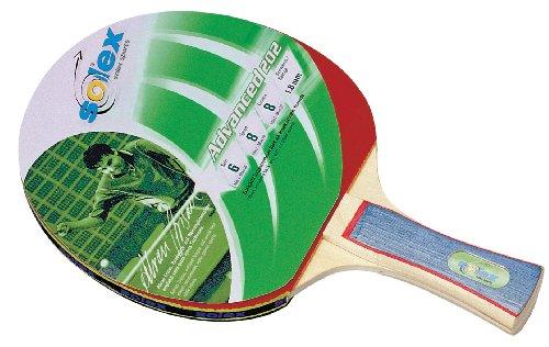 Solex Sports, Racchetta da Ping-Pong TT-Schläger Advanced 202 Schwamm, Rosso (Rot/Holz), 26 x 15 x 2 cm