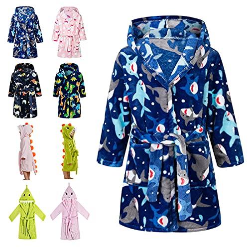 Lodunsyr Albornoces Niña Niño Pijamas y Batas Infantil Textiles de Baño Muchacha Albornoz con...