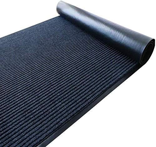 uyoyous Fußmatte 90x300cm Sicherheitsmatte Weicher Haustürmatte Eingangsteppich Türmatte Fußabstreifer für Innen Außen Teppichfliesen (0.9x3M Grau Teppich)