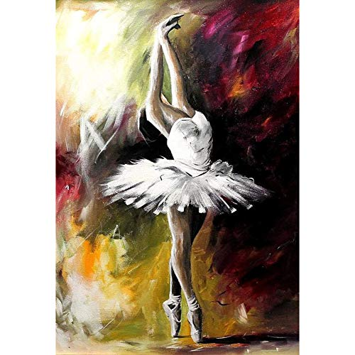 5D Diamond Painting Diamant Malerei Painting Bilder, Wowdecor Ballett Tänzerin Tanzen Full Set Groß DIY Diamant Gemälde Malen Nach Zahlen