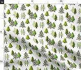 Spoonflower Stoff – Tannenbaum, Wald, Wald, Bäume,