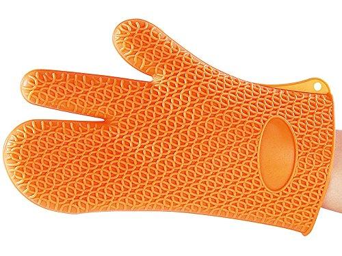 Rosenstein & Söhne Silikonhandschuh: Silikon Hitzeschutzhandschuh (Silikon Handschuhe)