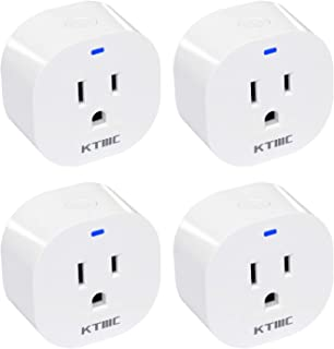 Smart Plug, KTMC MiNi Smart Outle Wifi Socket Compatible with Alexa, Google Home?Timer Function, No Hub Required, Only Supports 2.4GHz Network?White ?4 pack?