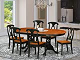 7 PC Dining room set-Dining Table with 6 Wood Dining Chairs
