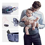 Bebamour Foldable Baby Carrier Hip Seat Safety Certified Large Storage..