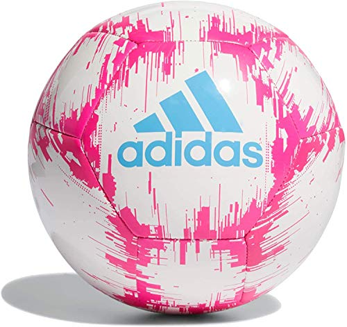 adidas Glider 2 Soccer Ball (White/Pink/Blue, 4)