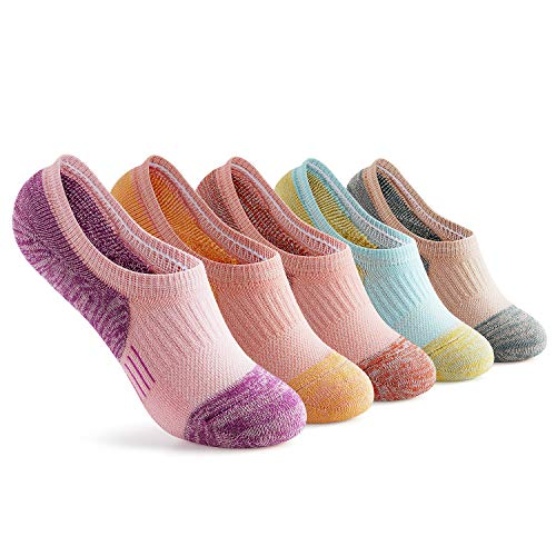 Gonii Womens No Show Socks Athletic Ankle Socks Cushioned Running Low Cut 5-Pairs