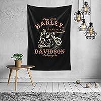 Harley-Davidson ハーレーダビッドソン タペストリー ポスター かわいい 壁飾り 多機能壁掛け 装飾布 おしゃれ 個性ギフト寝室 新築祝い 結婚祝い プレゼント 壁掛け 約(152cm*102cm)