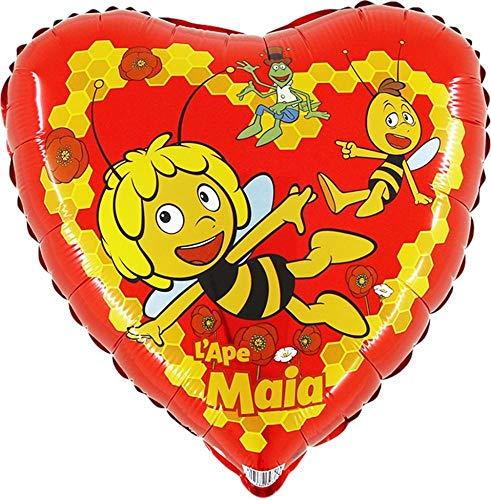 Ballonim® Biene Maja Herz ca. 45cm Luftballons Folienballon Party Dekoration Geburtstag