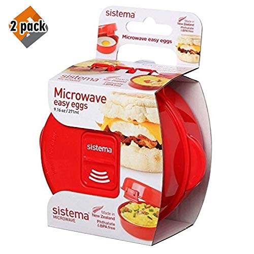 Sistema - Microwave Easy Eggs - One perfect egg (Pack of 2)