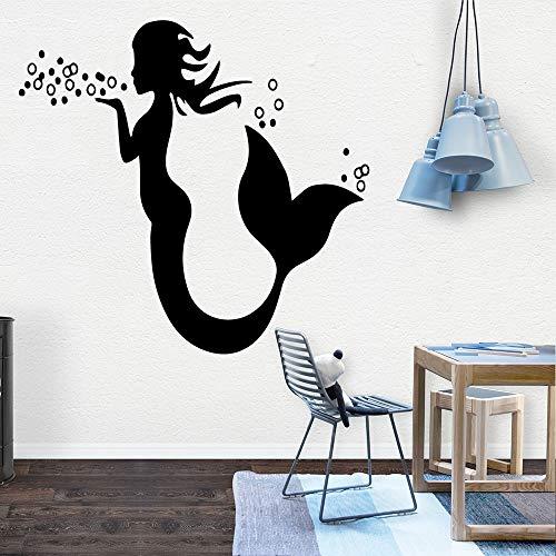 Hetingyue Muursticker, mooie zeemeermin, wanddecoratie, woonkamer
