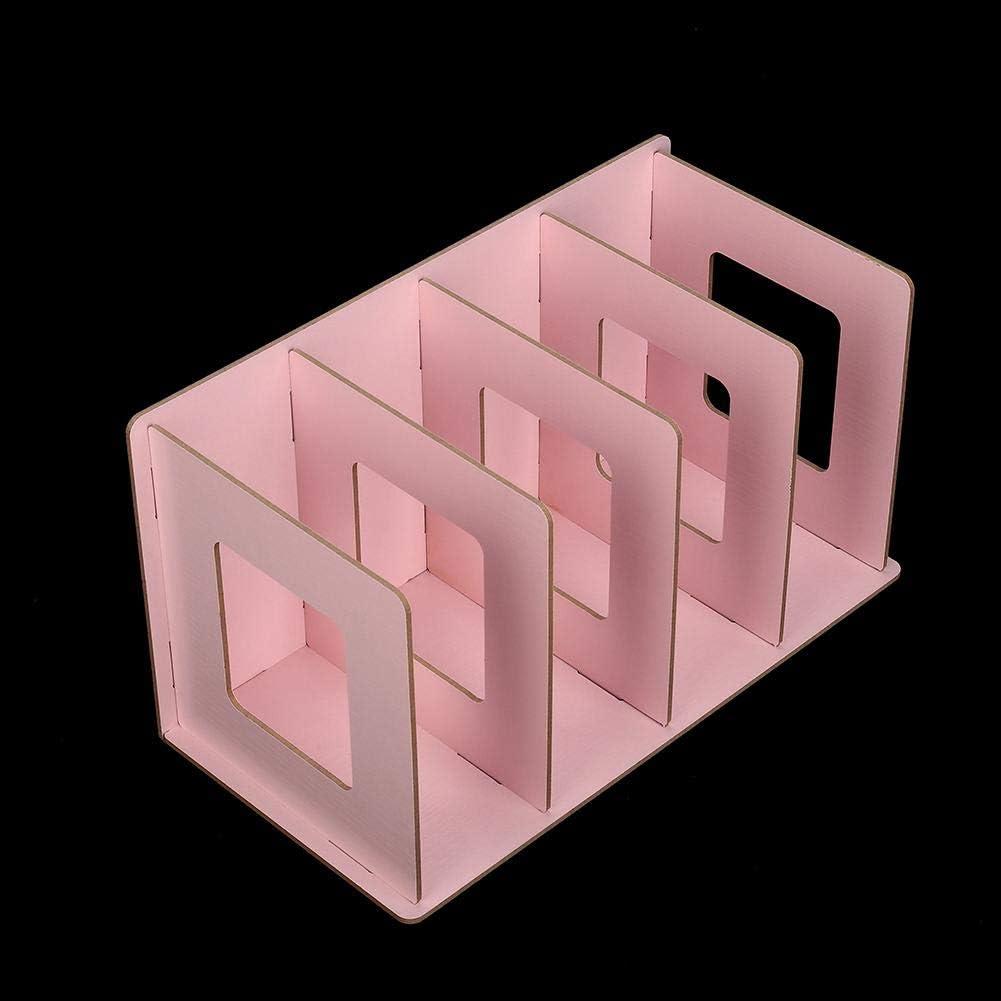 Holz DIY Desktop-B/ücherregal Rack B/ücher DVD-Speicher Magazinhalter f/ür Studenten Kinder Erwachsene Desktop-B/ücherregal Wei/ß