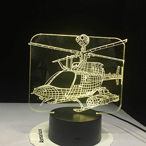 Lámpara de Mesa de Modelado de helicóptero lámpara de mesilla de avión...