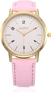 naivo Women's Quartz Stainless Steel and Gold Plated Watch, Color:Pink (Model: 1)