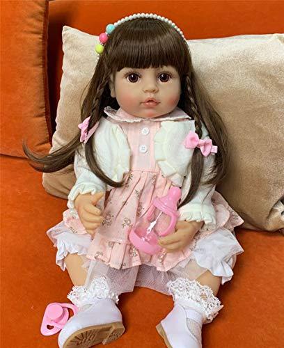 Zero Pam Muñecas Renacidas Silicona de Cuerpo complet Niñas Lavables Muñecas recién Nacidas Muñecas Hechas a Mano anatómicamente correctas niñas(55 cm)