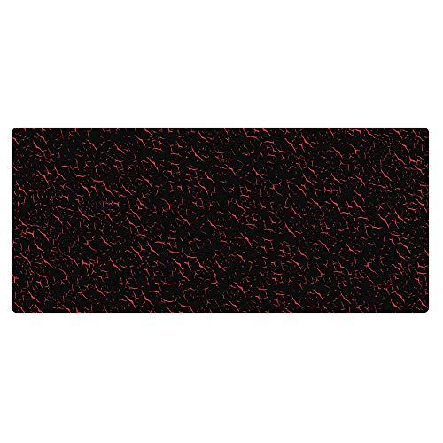 Kraken Keyboards XXL Extended Gaming Mouse Pad Thich Desk Mat (Black / Red)