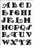 UMR-Design W-641 Font Retro Wand / Textilschablone Grösse A5
