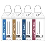Holland America Luggage Tag Holders by Cruise On - Fits All Holland America Ships & Tags for Cruises in 2020 & 2021