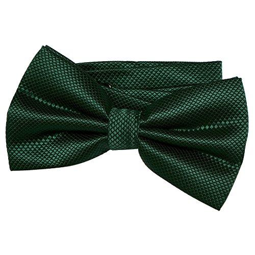 DonDon Noeud papillon pour homme 12 x 6 cm avec crochet déjà lié et réglable - vert foncé
