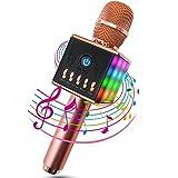 ERAY Microphone Sans Fil Karaoké Portable Bluetooth 4.1, LED Lampe Coloré...