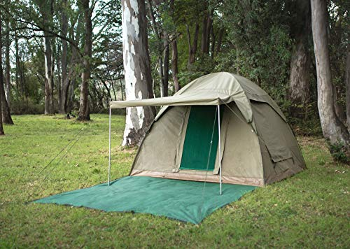 Alpha Kilo 4000 Canvas 6 Person Bow Tent, Camping Tent and Outfitter Tent with Waterproof and fire Retardant Ripstop Canvas.