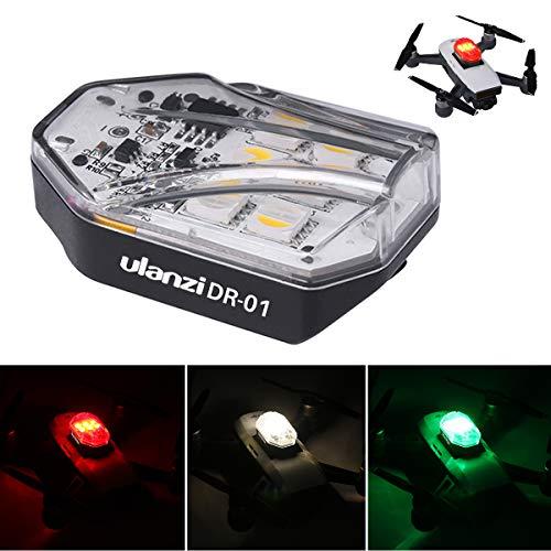 Ulanzi Drohnen-Flash-LED-Licht in 3 Farben für DJI Drohne, die meisten Drohnen anwendbar, Zubehör für Nachtdrohnen, 14 g Gewicht Stroboskoplicht