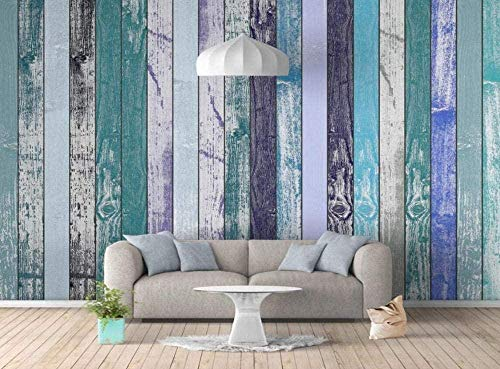 Mural Wallpaper Photo Poster Wall DecorationStriped Wood Grain Retro freshBackground Wall Background Painting Panorama 3D Wall Mural Decor 140 * 200cm