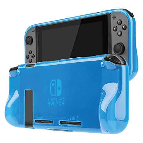 TNP Nintendo Switch Case Cover for Console & Joy-Con Controller - Travel Friendly TPU Plastic Shell Protector, Anti-Scratch Shockproof Protective Nintendo Switch Accessories (Blue)