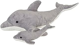 """Adventure Planet Birth of Life Dolphin with Baby Plush Toy 22"""" Long"""