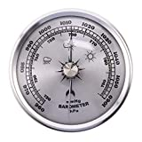 Kresell for Home Pressure Gauge Weather Station Metal Wall Hanging Barometer Atmospheric Multifunction Thermometer Hygrometer Portable