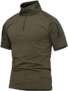 Men's Outdoor Military Tactical Shirt, Long Sleeve Combat Shirt with 1/4 Zipper