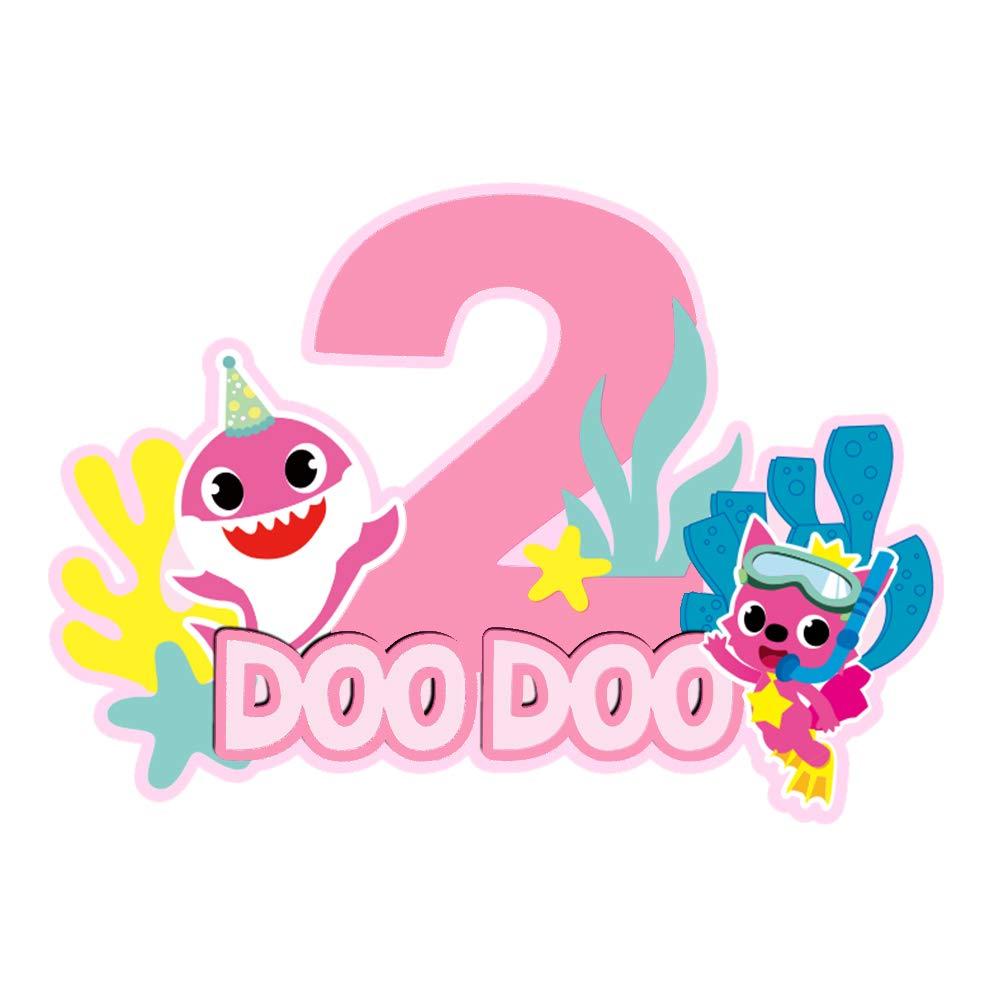 Ranking TOP17 Glitter Shark Cake Topper 2 Second 2nd Birthday Ranking TOP17