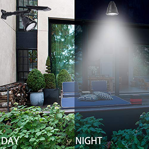 Solar Spotlights Outdoor Bright, Upgraded Waterproof Super Bright 18 LED 300 Lumens 2 Mode On/Off Adjustable Wall Light Landscape Light Security Lighting for Patio Deck Yard Garden Driveway (1)