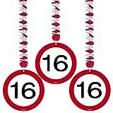 Folat 05115 - Rotorspirale - Verkehrszeichen - 3 STK. - Zahl: 16