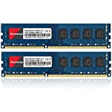 Kuesuny Módulo de memoria RAM de 16 GB (8 GBX2) DDR3 1600 MHz Udimm Ram PC3-12800 PC3-12800U 1.5 V CL11 240 pines 2RX8 de doble rango sin ECC sin búfer para computadora de escritorio