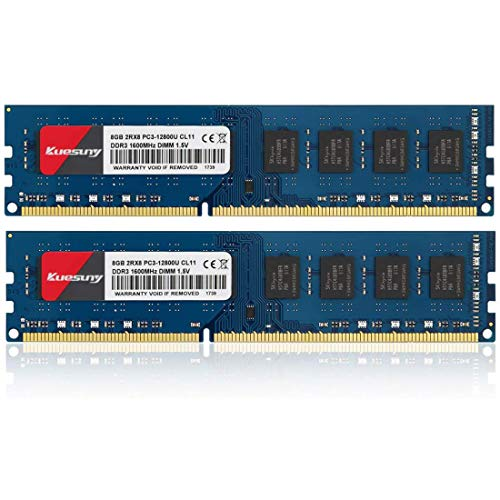 Kuesuny Módulo de memoria RAM de 16 GB (8 GBX2) DDR3 1600...
