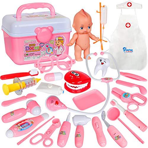 Kids Doctor Kit Toy Medical Carr...