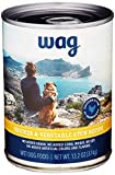 Amazon Brand - Wag Wet Canned Dog Food, Chicken & Vegetable Stew Recipe, 13.2 oz Can (Pack of 12)
